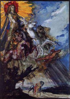 Phoebus and Boreas  Gustave Moreau - circa 1879