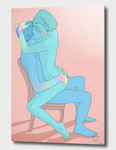 «Sex on chair», Numbered Edition Aluminum Print by Phazed - From $59 - Curioos