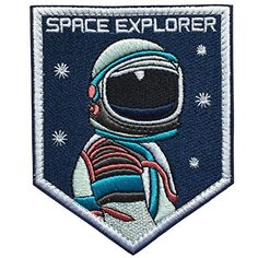 Space Journey Astronaut Thumbs up Iron on Embroidered Patch applique UK Seller