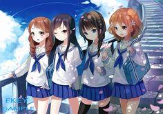 """Hanasaku Iroha"" – Anime Film Announced Anime Chibi, Manga Anime, Anime Art, Anime Uniform, Friend Anime, Anime Best Friends, Loli Kawaii, Kawaii Anime Girl, Anime Girls"