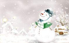 Free Lovely Christmas Snowman wallpaper Wallpapers - HD Wallpapers 87979
