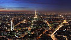 Paris Tower France City at Night HD Wallpaper