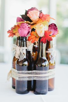 Bottled up blooms by @popevents