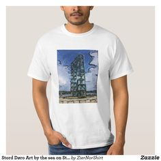 Stord Døro Art by the sea on Stord T-Shirt Party Hats, Funny Cute, Fitness Models, Kids Shop, Sea, Casual, Sleeves, Mens Tops, Cotton
