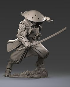Shikami an android samurai. Character Modeling, 3d Character, Character Concept, Ronin Samurai, Samurai Art, Armor Concept, Concept Art, Zbrush, Cyberpunk