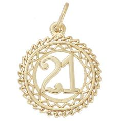 Number 21 Charm $30.50 http://www.charmnjewelry.com/gold-charms.htm