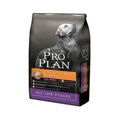 Purina Pro Plan - chicken and rice formula.
