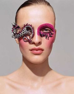 Ilan Rubin - obscuring full identity through using a combination of make-up and jewellery