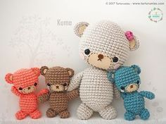 Amigurumi Pattern: Kuma's Bear Family