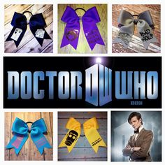 A collection of Doctor Who bows by Midnight Bows.   www.facebook.com/MidnightBows Instagram - @MidnightBows