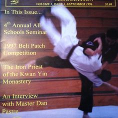 Master Pete Dueñas and Master James King appearing on the cover of the September, 1996 issue of the IKFSSA Newsletter.