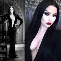 Christina Ricci as Morticia; Harper Leigh on right.                                                                                                                                                                                 More