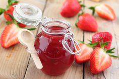 Dżem truskawkowy przepis tradycyjny Vegan Recipes, Vegan Food, Mason Jars, Strawberry, Fruit, Cooking, Tableware, Kitchen, Diet