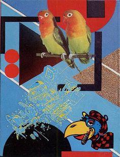 Peter Phillips Lovebirds 1974 Mixed Media on Canvas