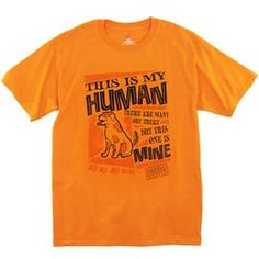 This bright, athletic orange #t-shirt features a unique graphic that displays the special bond that dog and human share, while supporting the Michigan Humane Society.