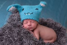 Crochet Bunny Hat PDF PATTERN Buckteeth Hare Rabbit