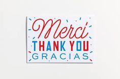 Merci Paris, Paris Logo, Pretty Letters, Wrapping Paper Design, Typography, Lettering, Pretty Cards, Paper Goods, Announcement