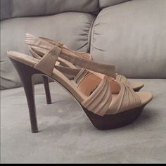 Guess by Marciano new  size 8 Platform Guess by Marciano new  size 8 paid $140 price is firm paid $120. Great Buy! Never worn. Beautiful SpringSummer platform sandals. Guess by Marciano Shoes Platforms