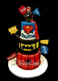 Boy Super Hero Cake