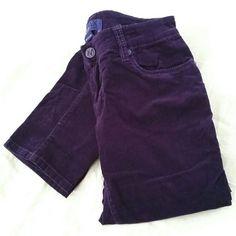 PURPLE CORDUROY PANTS Miley Cyrus Max Azria Purple Corduroy Pants  SKINNY FIT  STRETCHY  SIZE 9  98% Cotton 2% Spandex max azria Pants Skinny