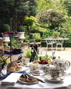 Afternoon tea in the garden.  Tea At The Garden Place... (1) From: Nicety Live journal, please visit