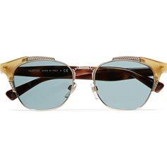 341750bdefaa Valentino Cat-eye acetate and gold-tone sunglasses (18