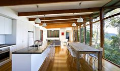 Contemporary Australian Home Built Using Reclaimed Wood: Storrs Road Residence