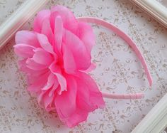She Bloom Girls Pink Oversized Flower Headband $18.00