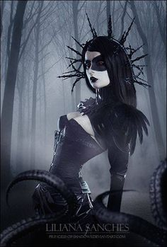 Great imagery with Liliana Sanches. #Goth girl beauty!