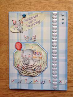 Pyramid kids card with elephant - Pyramide kinderkaart met olifant