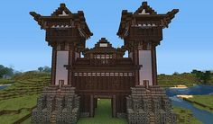 the minecraft japanese style castle gate project was contributed by alikuekano today i upload a small building a japanese style castle gate to use in your