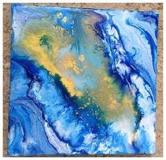""""""" la luz en el mar""""  Creado por mi. Hecho con resina y tintes. #liquitex"""