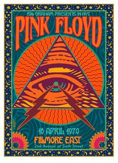 psychedelic PINK FLOYD Poster at the Fillmore East 1989 with very inspiring illustration. Rock Posters, Music Posters, Phish Posters, 80s Posters, Hippie Posters, Arte Pink Floyd, Pink Floyd Wall Art, Pink Floyd Tour, Poster Wall