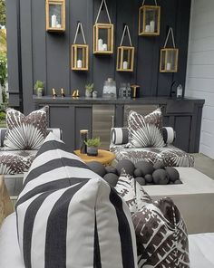 Love the different fabrics Newport Harbor, Newport Beach, Beach Cottages, Great Rooms, House Tours, Backyard, Blanket, Interior Design, Bed