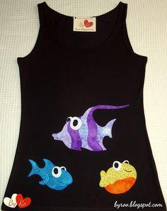 By Ro: Camiseta de Patchwork: 3 PECES
