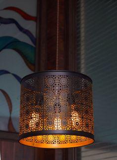 Industrial Vintage Edison 3 Light Drum Shade Pendant Light - Bar Ceiling Lamp by bluesky3786 on Etsy https://www.etsy.com/listing/222976144/industrial-vintage-edison-3-light-drum