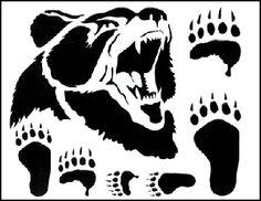 bear claw stencil printable