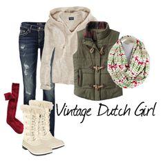 Let it Snow, Let it Snow, Let it Snow... by Vintage Dutch Girl featuring Christmas Fair Isle Reindeer infinity scarf