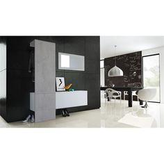 garderobe carlton set 4 beton oxid spiegel beton