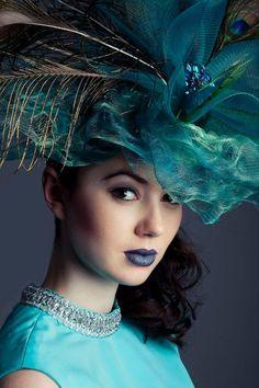 Sally Harper-Kenn's peacock creation.