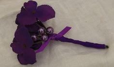 Boutonniere Purple Hydrangea Wedding Accessory  by 3Mimis on Etsy, $9.00