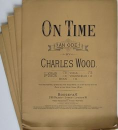 On Time by Charles Wood