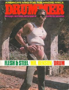 http://www.bijouworld.com/Fetish/Drummer-vol.4-no.32-1979.html Drummer magazine was founded by John Embry and Jeanne Barney in Los Angeles in 1975. It was the most successful American gay leather magazine, boasting a worldwide circulation. At first emphasizing narrative about the leather subculture, Drummer later evolved into a primarily photo-oriented magazine. Drummer magazine was a major influence on the emerging gay leather lifestyle. Excellent condition! $99.95