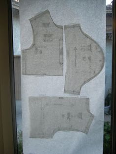 Freezer paper sewing pattern transfer tutorial. I think this just changed my life.