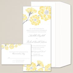 Moss Roses Wedding Invitation (available in other colors) | #exclusivelyweddings | #yellowwedding