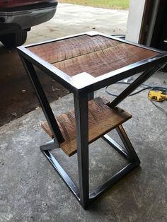 Unique Furniture Welding Project Ideas On Budget - Coffee Milk Welded Furniture, Iron Furniture, Steel Furniture, Unique Furniture, Industrial Furniture, Furniture Design, Vintage Industrial, Vintage Furniture, Wood Steel