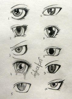 sketch of anime boys eyes - Buscar con Google