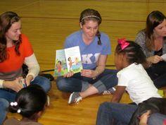 Marist reading to local children during their RIF event. #KKG #KKG1870