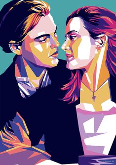 Illustrations Discover Leonardo Dicaprio And Kate Winslet by Stars on Art Titanic Movie Poster, Movie Poster Art, Pop Art Illustration, Portrait Illustration, Pop Art Portraits, Portrait Art, Arte Pop, Titanic Drawing, Watercolor Girl