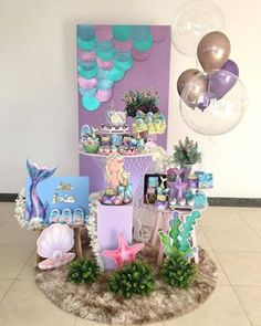 Mermaid Birthday Party Decorations Diy, Kids Party Themes, Easter Bunny Decorations, Diy Party Decorations, Little Mermaid Birthday, Little Mermaid Parties, Girl Birthday, Birthday Parties, The Little Mermaid